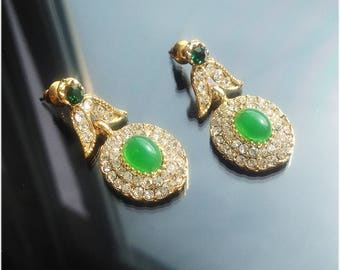 Green gold earrings. Bohemian Style Jewelry. Bridesmaid Jewelry Bridesmaid Wedding Bridal Jewelry -Bridesmaid gifts, green apple