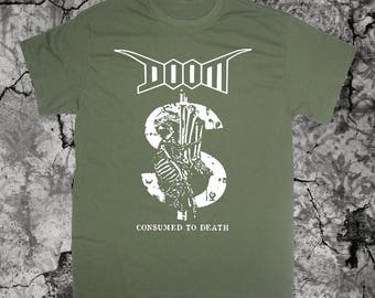 Doom T Shirt Crust Anarcho Punk D-Beat Anti Cimex Nausea Disrupt Discharge Amebix Extreme Noise Terror Antisect Disclose Aus-rotten Filth