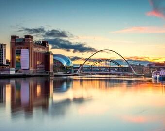 Newcastle/Gateshead Sunset Photographic print