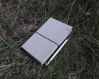 Natural Linen Bound Notebook / Journal