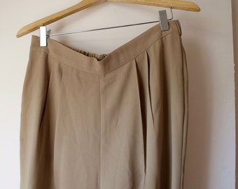 Vintage High Waisted Beige Trouser