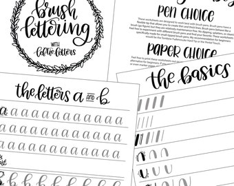 Small Hand Lettering Practice Sheets Hand Lettering