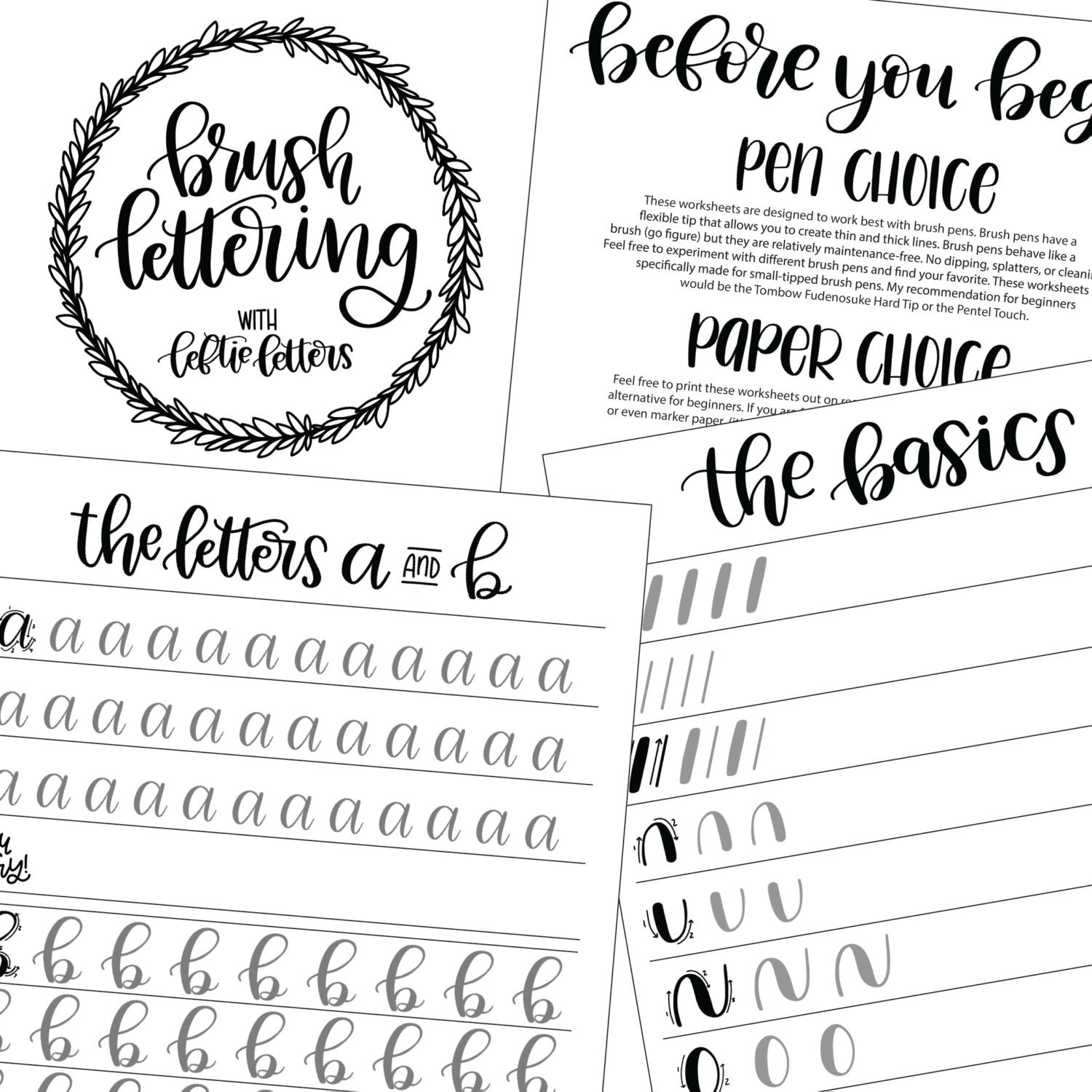 Brush Lettering Worksheets Learn Brush Lettering Lowercase – Sf 86 Worksheet
