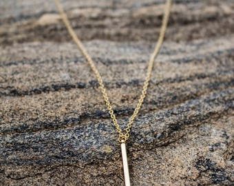 Verticle Bar Necklace - Bar Necklace - Gold Bar Necklace - Layering necklace - Bar Jewelry - Minimal Necklace - Simple Necklace