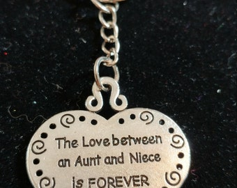 Aunt Gift-Niece Gift-Aunt Keychain-Love-Aunt and Neice