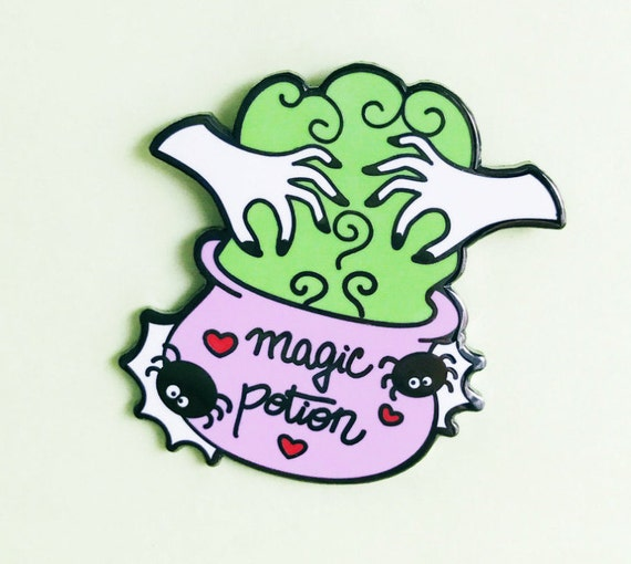 SALE! Magic Potion Pin - Cute Halloween Pins- Hard Enamel Halloween Lapel Pin