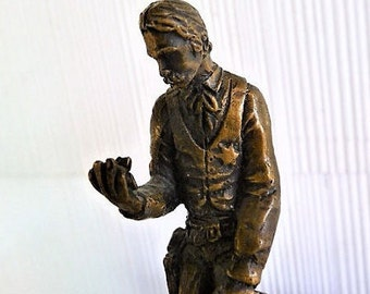 1977 - Post 'n Tell Old West Sheriff Cowboy Figurine  ..  Old West Collectible Statue