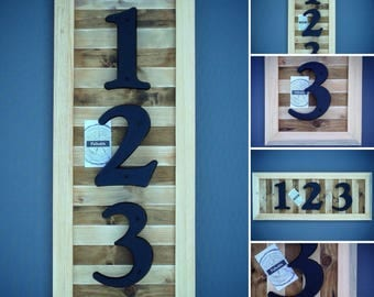 Address Plaque, Wood Address Plaque, Rustic Address Plaque, Reclaimed Wood Address Plaque by Pallodds (Hanging Hardware Included)