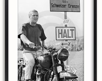 Steve McQueen - The Great Escape - Classic Vintage Poster