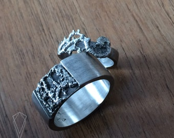 Vintage lace sterling silver rings set