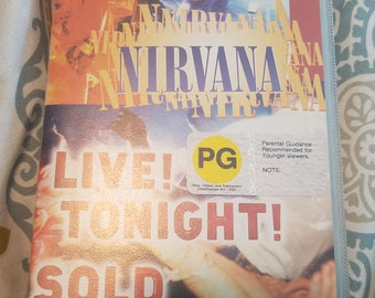 Rare Nirvana Live! Tonight! Sold Out!! concert VHS from 1994 with hard plastic cover