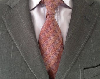 Elegant Vintage Missoni Necktie Subtle Shades of Colour on a Diagonal Design