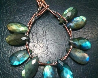 Labradorite Pear Shape Faceted Briolette 5 Beads