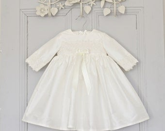 Christening Dress 'Lara' by Adore Baby. Baptism dress.