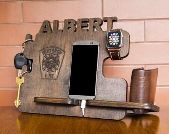 Firefighter gift, Gift for him, firefighter badge, Fire emblem, Firefighter sign, Firefighter flag, Firefighter birthday, Firefighter decor