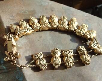 Golden Owl Vintage Bracelet.
