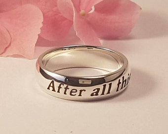 Harry Potter Ring, After all this time, Always, J.K Rowling, Albus Dumbledore, Snape, quote ring, Personalized, 925 sterling silver