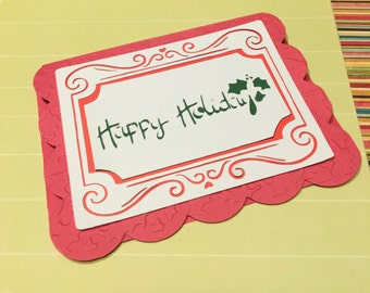 Happy holiday Stencil - Digital File