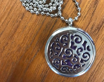 Aromatherapy Locket and Essence Rounds - Abstract design