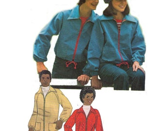 "Simplicity 7253, 70s Sewing Pattern, Size X Small, Chest or Bust 29"" 31  1/2"", Unlined Jacket  In Two Lengths and Cap."