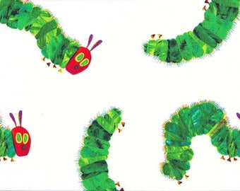 Hungry caterpillar fabric - 100% Cotton fabric - Eric carle fabric - Quilting fabric - Childrens fabric - Designer fabric - Andover
