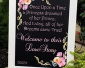 Once Upon a Time Wedding Sign, Fairy Tale Wedding Theme, Beauty and Beast Wedding Theme, Wedding Signs, Rustic Wedding Sign, Wedding Decor