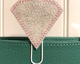 "Sweet little Feltie - Paperclip, Bookmark ""diamond white glitter"""