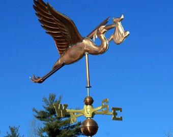 Copper Stork Weathervane - BH-WS-262
