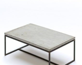 Coffee table - concrete and steel