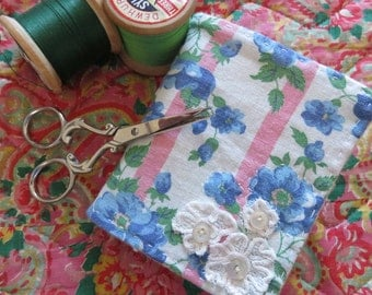 Needle Case Vintage Feedsack Fabric