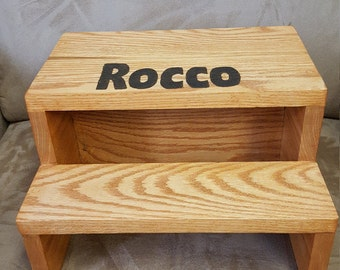 Personalized Kid Step Stool, Quality Step Stool for Toddlers, Kids or Adults. Children's Wood Step Stool. Kid Safe Foot Stool.