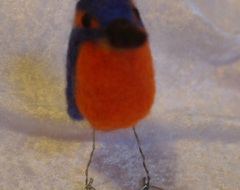 Needle felted Kingfisher