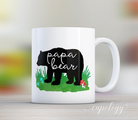 papa ours tasse cadeau de f te des p res p re nouveau. Black Bedroom Furniture Sets. Home Design Ideas