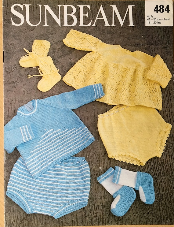 Sunbeam Knitting Patterns : Baby Knitting Pattern, Sunbeam Knitting Pattern, Baby Top Pattern, Baby Pants...
