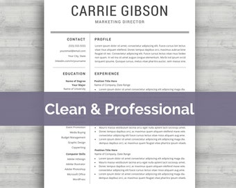 professional resume template instant download professional cv template modern word resume template simple - Download Professional Cv Template