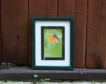 Bee on Flower — Original Art Painting Print — Fine Art Print