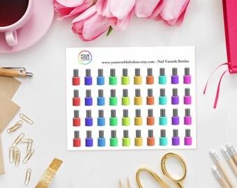 Nail Varnish Bottle Planner Stickers - perfect for Erin Condren Life Planner, Kikki K, Happy Planner, Kate Spade or Filofax Planner