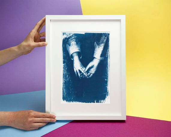 Engagement Painting by Antony Van Dyke, Cyanotype Print on Watercolor Paper, A4 size (Limited Edition)