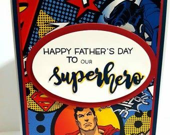 Father's Day Card, Superhero Card, Superman Card, Superman Birthday Card
