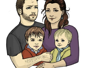 Custom Family/Friends Portrait - custom portrait of family/friends