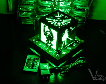 Legend of Zelda Inspired- Link's Companions Color Changing Lantern with Outlet powered Base