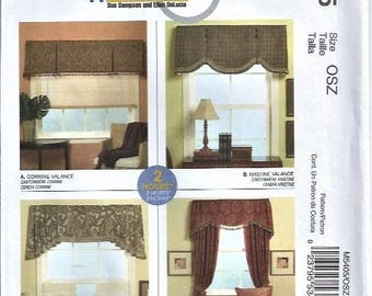 Valance Pattern McCall's Pattern #M5405 Home Dec In A Sec Pattern Window Curtain UNUSED 2007