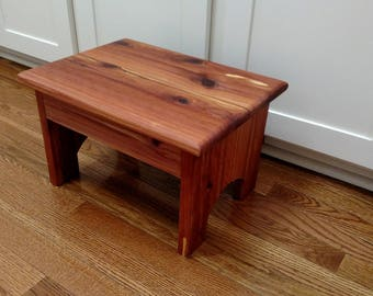 Wood Step Stool, Foot Stool 15x11 x8