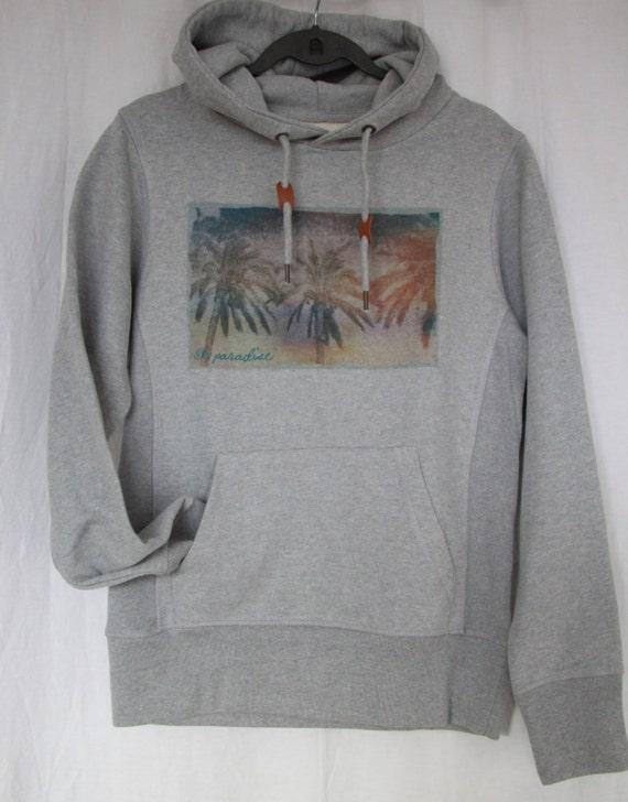 "Unisex Sweatshirt Hoodie grey graphic ""paradise sky"""