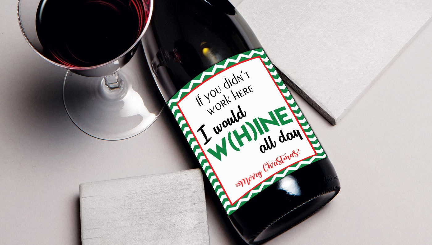 Coworker Christmas Gift Wine Label Gift For Coworker Wine