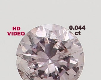 2.20 MM 0.044 Ct Natural Loose Round Diamond Cut Brownish Pink Color N2061