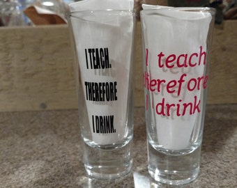 Valentines Day, Shot Glass, Teacher, Homeschool, Barware, Teacher Valentine Gift, Alcohol, Affordable Gift, Teacher gift, Jello Shotglass