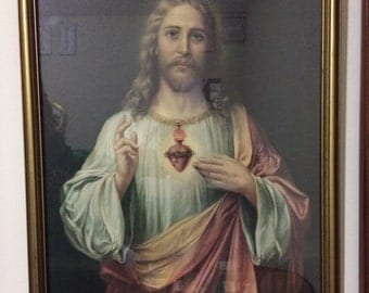 Sacred Heart of Jesus Framed Portrait