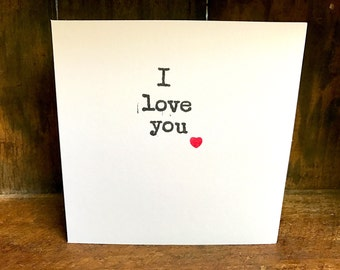 SALE, I love you, valentines card, quote greeting card, love card, valentines card, quote card, valentine card, valentines day, wife card
