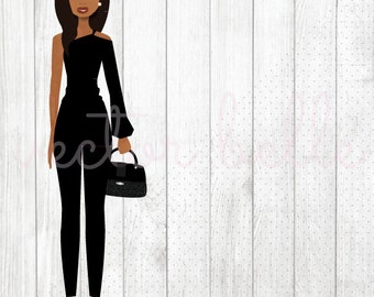 LARGE Fashion Planner Sticker- African American